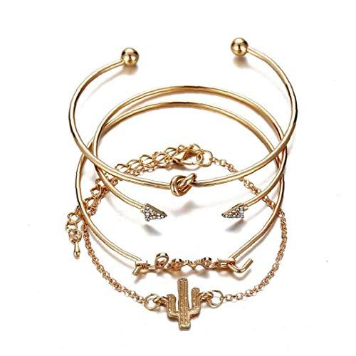 1Set Women's Bangle Ladies Bracelets Bangles Adjustable Birthday Party Wedding Anniversary Jewelry for Girls Convenient Supply