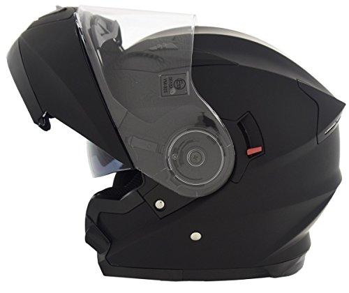 CRUIZER Helm Modular Motorrad zugelassen ece-22–05, schwarz matt, Größe L