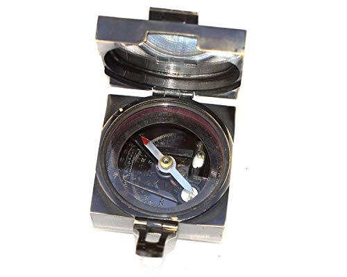 Yaman antiker nautischer Messing-Kompass, 6,3 cm, quadratisch, Vintage-Stil, Sammlerstück