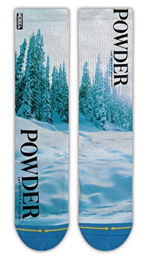 MERGE4 Powder Magazine Medium White Socks for Men and Women Snow
