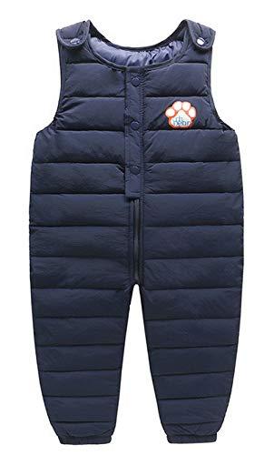MARRYME Kinder Daunenhose Overall Winter Schneehose Empfehlugnshöhe 100-110cm Blau