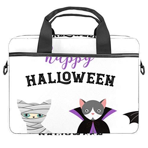 Bolsa de mensajero para disfraz de gato de Halloween con bandolera para ordenador y tableta de 13.4-14.5 pulgadas