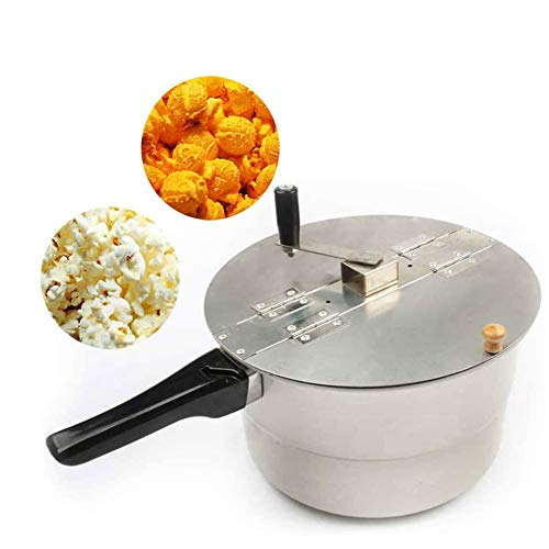 Dongbin Kommerzielle Popcorn Maker Herd Popcorn Hand Rühren Crank Induktions-Herd Kessel Popcorn Popcorn Holzgriff-Silber