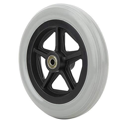 1pc 7 pulgadas Silla de ruedas Rueda delantera Rueda de goma antideslizante Silla de paseo Reemplazo Carga máxima 120 kg