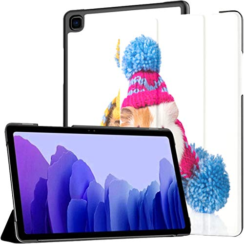 Case For Samsung Galaxy Tab A7 10.4 Inch Tablet 2020(sm-t500/t505/t507),Two Funny Guinea Pigs Dressed Knitted Multiple Angle Stand Cover With Auto Wake/sleep