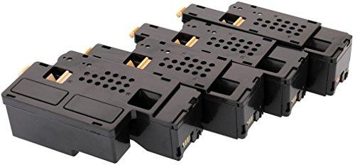 TONER EXPERTE 4 Toner Cartridges compatible for Dell 1250c 1350cn 1350cnw 1355cn 1355cnw C1760nw C1765nf C1765nfw C17XX 593-11016 593-11021 593-11018 593-11019 (2000 & 1400 Pages)