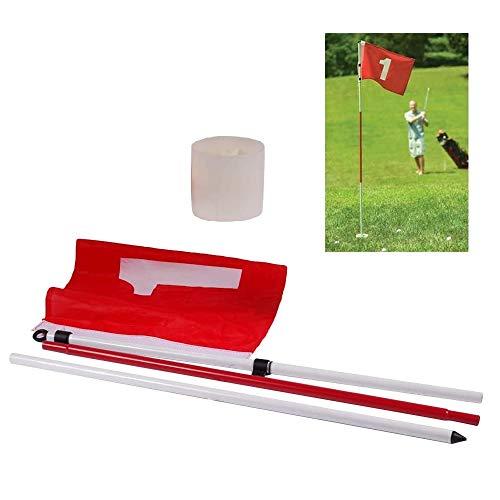 POSMA GPF030 Golf Flagstick Pin Flag Hole Cup Set 6ft Portable 3-Section Design