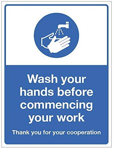 Lavare le mani prima di iniziare il lavoro