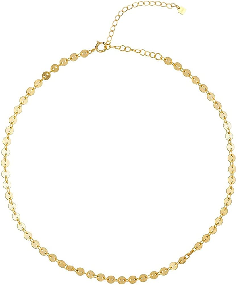 925 2021 model Sterling Silver Selling rankings Gold Coins Women Necklace Chains Choker Jewe