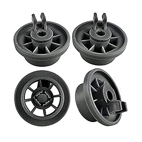 4 Uds, Estante inferior para lavavajillas, cesta, estante para platos, rueda para Profilo/Bosch/Siemens/NEFF, conjunto de recambios para lavavajillas, cesta inferior