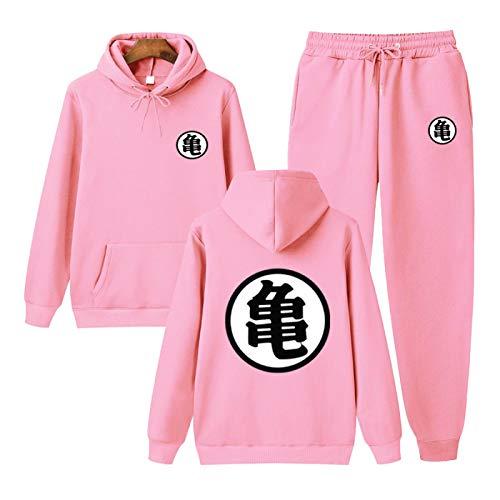 N\C Primavera Y Otoño para Hombre Edición Clásica Moda Deportiva Cómodos Pantalones De Suéter De Manga Larga Goku Conjunto De Dos Piezas M