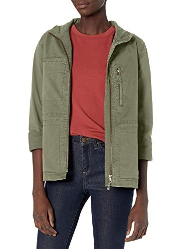 Amazon Brand - Daily Ritual Women's Military Cargo Jacket, dusty olive, 4