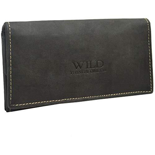 flevado Damen Brieftasche Geldbörse Schwarz viel Stauraum Wild Things Only!