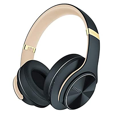 Wireless Bluetooth Headphones Over Ear, DOQAUS 52 Hrs Foldable Headphones with 3 EQ Modes, Hi-Fi Stereo Comfortable Earpads Bluetooth Headsets Wired Mode with Mic for Cellphone PC TV (Shadow Grey) by DOQAUS