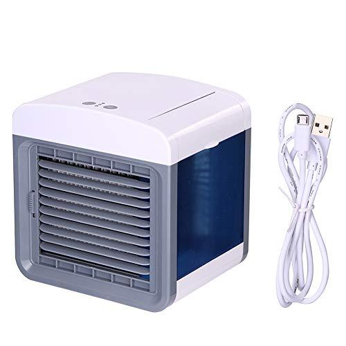 Ventilador de enfriamiento de aire portátil Refrigerador de aire Mini ventilador para oficina Inicio USB Aire acondicionado Humidificador Purificador Ventilador de acondicionamiento de escritorio