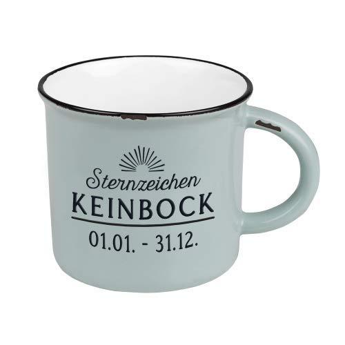 Kaffeetasse vintage| Keramik Becher zum verschenken | 400 ml | Sternzeichen Keinbock