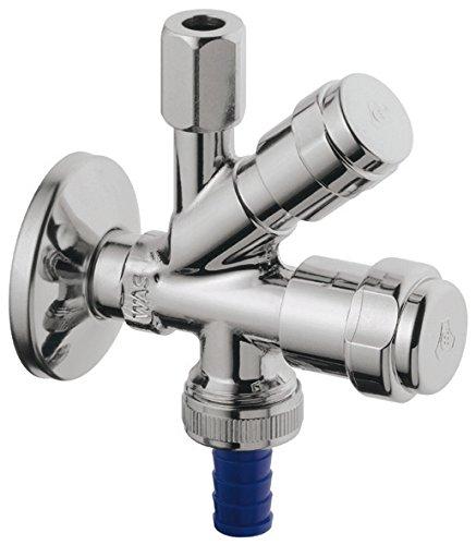 Grohe 17508 1 Geräte-Kombi-Eckventil 41073 1/2 Zoll, Messing-verchromt, Eckventil-41073