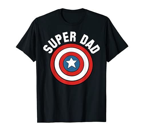 Marvel Father's Day Super Dad Captain America Shield T-Shirt