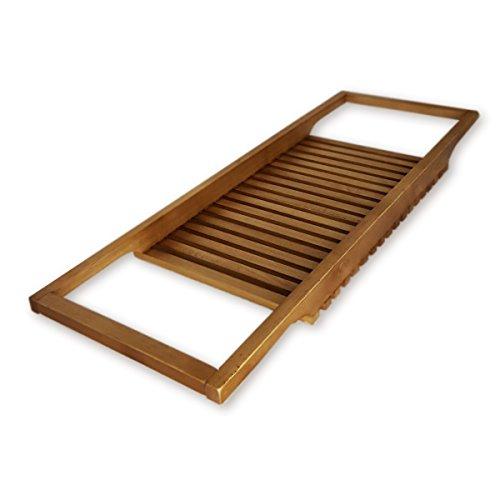 """roro Long Wood Bathtub Tray and Caddy, 34.5"""" x 12"""
