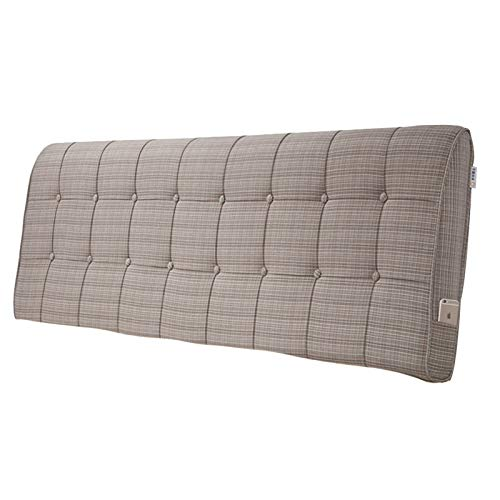 ZDAB Fashion Linen Weave Upholstered Headboard No Headboard,for Different Sizes Match Beds In Twin, Full, Queen,king Sizes,California King 4 Colors (Color : Weave Light Brown, Size : 90 * 60 cm)
