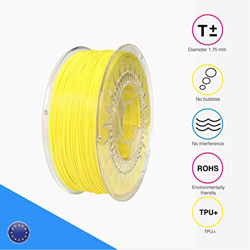 EOLAS Safe - Filament 3D printing 100% TPU+ 1.75 mm - Made in Europe - Food safe - Toys safe – Certified