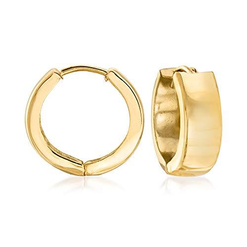 14k gold italian hoop earrings - 3