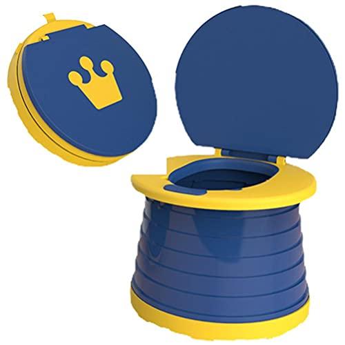 Naduew Vasino per Bambini - Pieghevole Portatile vasino per Bambini WC per Auto Vaschetta Lavabile Robusto Compatto WC per Campeggio Escursionismo Viaggi Lunghi Ingorgo Stradale Bambini