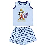 Cerdá Pijama Niño 3 Años de Mickey Mouse-Camiseta + Pantalon de Algodón-Color Azul Juego Unisex bebé