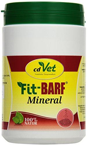 cdVet Naturprodukte Fit-BARF Mineral 1 kg - Hund&Katze - Calcium aus Eierschalen und Algenkalk - Knochenwachstum - Stoffwechselvorgänge - Mineralstoffe + Spurenelemente - Rohfütterung - BARFEN -