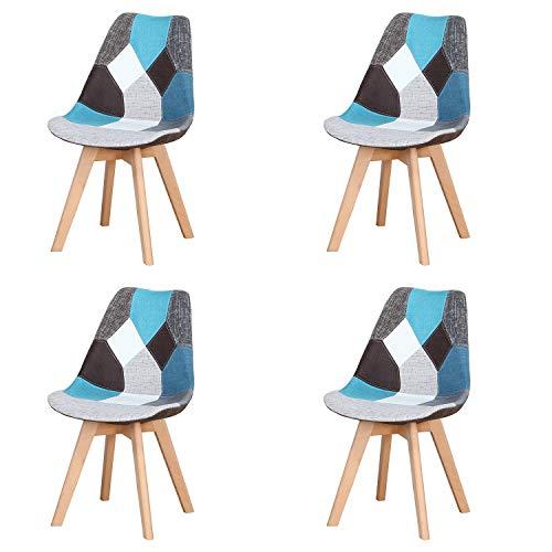 Injoy Life: Juego de 4 sillas de comedor