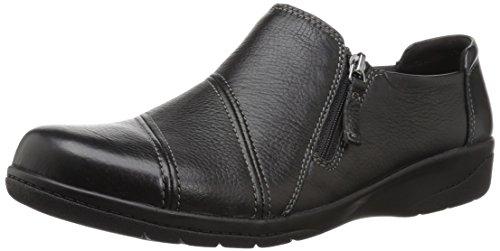 Clarks Women's Cheyn Clay Loafer, Black Leather, 9 W US
