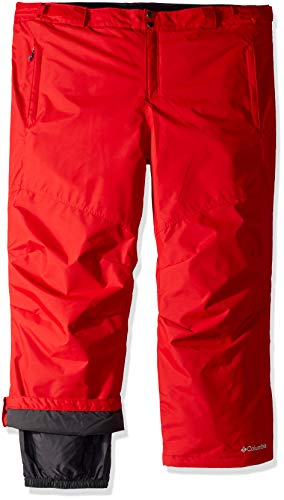 Columbia Mens Bugaboo II Pant, Waterproof and Breathable, Red Spark, Large x Short