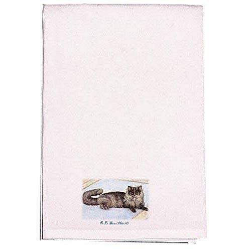 Betsy Drake Cat On Rug Guest Towel