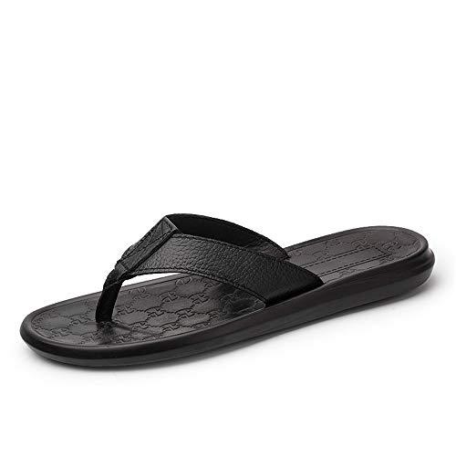 [長途跋株式會] 夏のスリッパ男性通気性のフリップフロップ速乾性メンズビーチシューズファッションクールサンダル男性 27cm 黒