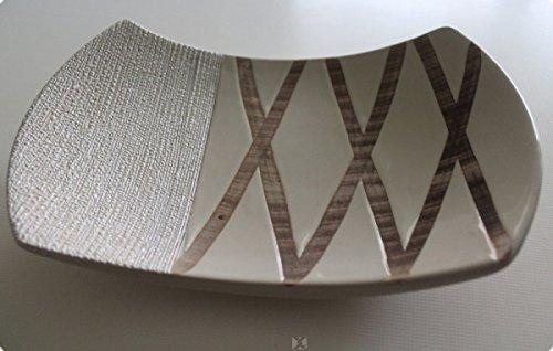 formano Deko Schale Spirale creme aus Keramik, 26 cm