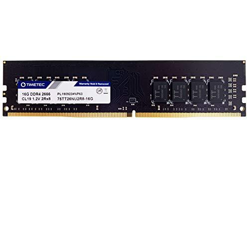 Timetec Hynix IC 16GB 2666 MHz DDR4 PC4-21300 unbuffered Non-ECC 1.2 V Dual Rank CL19 2Rx8 UDIMM 288 Pin modulo Memoria RAM Desktop (16GB)