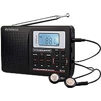 Retekess V111 Radio Portátil Transistor Am/FM/SW DSP Radio de Onda Corta Radio de Bolsillo de Viaje Receptor Estéreo con Despertador Digital y Temporizador para Dormir (Negro)