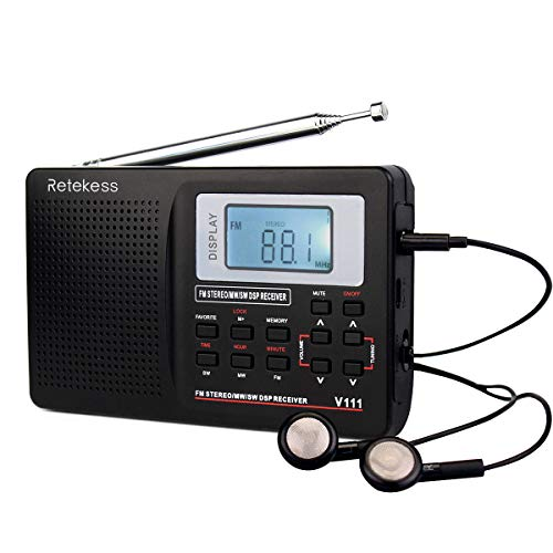 Retekess V111 Shortwave Radio Portable Digital Radio Stereo Voice...