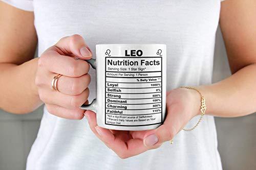 Coffee Mug, 11 oz Leo Prescription Coffee Mug- Leo Birthday Gift- Leo Birthstone- Leo SVG- Leo Birthday Card