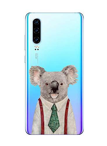 Oihxse Compatible pour Huawei Nova 3 Coque Ultra Fine Transparente TPU Silicone Doux Protection Housse Motif/Exact Fit/Souple pour Huawei Nova 3(Paresse A2)