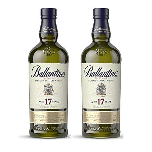 Ballantines 17 Jahre Blended Scotch Whisky 2er Set, Whiskey, Alkohol, Flasche, 40{24080c286e91b299c3792ff5942a0cb293c9499568c17d55484d66012e12dd4a}, 2 x 700 ml