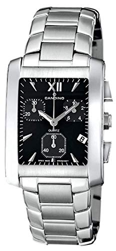 Reloj clásico CANDINO con cronógrafo y movimiento suizo negro C7508/3