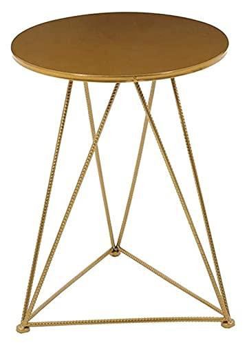 Cxcdxd Sgabello da Bar in Ferro battuto Tavolino triangolare in Ferro, tavolino Laterale del divano, combinazione di tavolo e sedia Casual, adatto per soggiorno, balcone 1216 (dimensioni: tavolo: 5