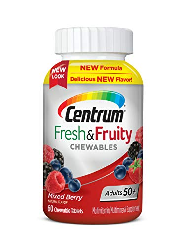 Centrum Adults 50+ Fresh & Fruity Chewables Multivitamin/Multimineral Supplement (60 ct) Mixed Berry