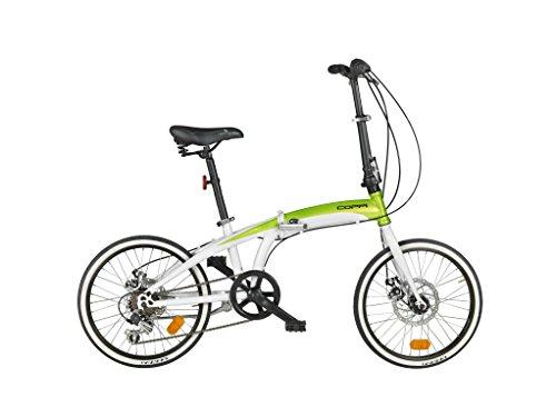 Coppi Bicicletta da Città Pieghevole 20', Bianco/Verde