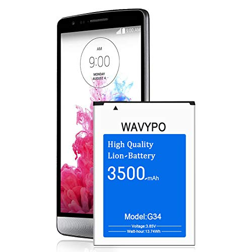 (Upgraded) Wavypo LG G3 Battery, 3500mAh Replacement Battery for LG G3 BL-53YH, D852, D855, D850, D851, VS985, LS990, G3 Spare Battery [12 Month Warranty]