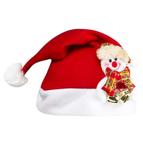 ZODOF Gorro de Santa en Forma de Pantalón Gorro de Navidad Gorro Papa Noel para Adultos y Niños Rojo