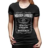 Denise K Steinbach Miranda Lambert T Shirt Women's Cotton Fashion Sports Casual Round Neck Short Sleeve Tees S Black