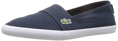 Lacoste Women's Marice Canvas Slip On, Navy Canvas, 7 M US