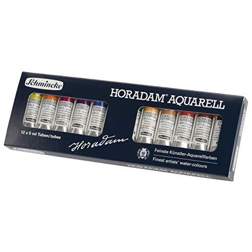 Schmincke Horadam - Caja de acuarelas (12 tubos de 5 ml)